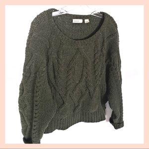SLEEPING ON SNOW chunky knit dolman sleeve sweater
